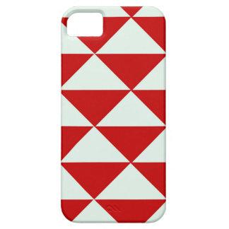 Rote und weiße Dreiecke Barely There iPhone 5 Hülle