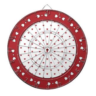 Rote und weiße Herz-Dartscheibe Dartscheibe