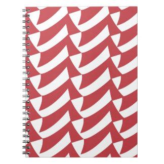 Rote und weiße Karos Spiral Notizblock