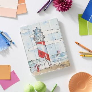 Rote und weiße Leuchtturm-Szene iPad Smart Cover
