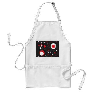 Rote und weiße Retro Kreis-schwarze Schürze