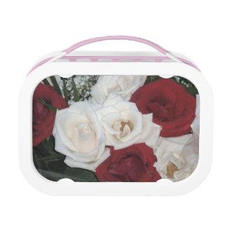Rote und weiße Rosen Brotdose