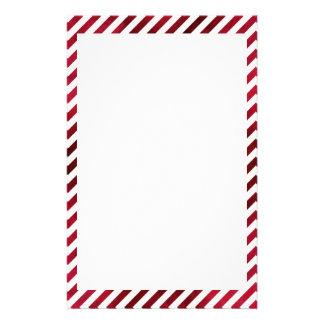 Rote und weiße Streifen auf Gewebe-Beschaffenheit Briefpapier