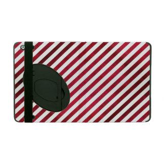 Rote und weiße Streifen auf Gewebe-Beschaffenheit Etui Fürs iPad