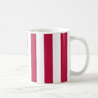 Rote und weiße Streifen Kaffeetasse