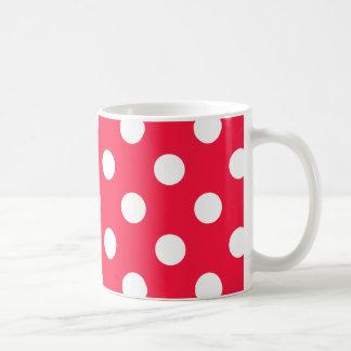Rote und weiße Tupfen Kaffeetasse