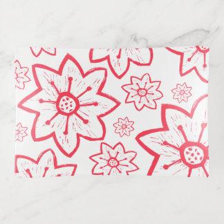Rote und weiße Volkskunst mit Blumen Dekoschale