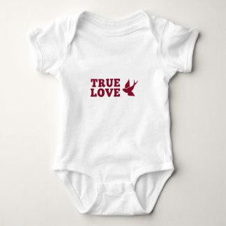 Rote und weiße wahre Liebe und Vogel Baby Strampler