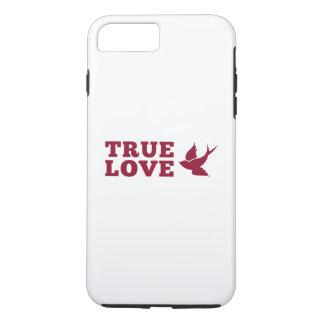 Rote und weiße wahre Liebe und Vogel iPhone 8 Plus/7 Plus Hülle