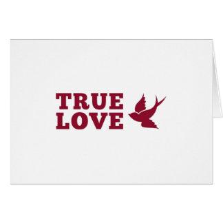 Rote und weiße wahre Liebe und Vogel Karte
