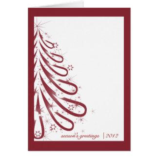 Rote und weiße Winter-Geschäfts-Weihnachtskarte Mitteilungskarte