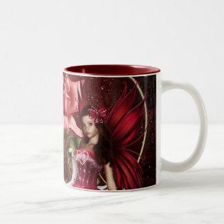 Rote Valentinstag-Fee Zweifarbige Tasse