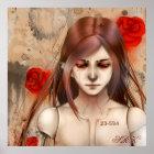 Rote Version 24X24 der synthetischen Schönheit Poster
