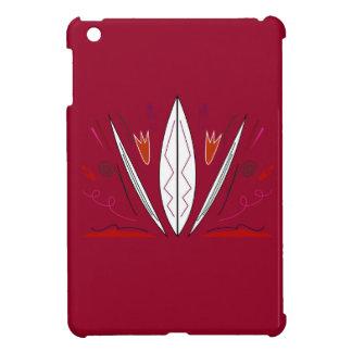 Rote Volksverzierungs-Mandala iPad Mini Hülle