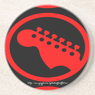"""""""Rote vorangegangene Gitarre """" Sandstein Untersetzer"""