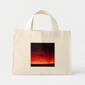 Rote Wand-Tasche Mini Stoffbeutel