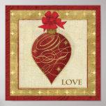 Rote WeihnachtenDŽcor Hoffnung Posterdrucke