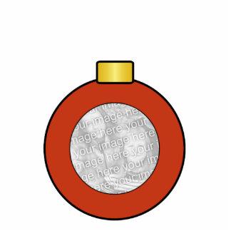 Rote Weihnachtsbaum-Birnen-Gewohnheits-Verzierung Acrylausschnitt
