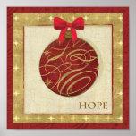 Rote Weihnachtsdekorationen Plakatdruck