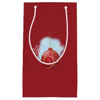 Rote Weihnachtsflitter-u. Schneeflocke-kleine Kleine Geschenktüte