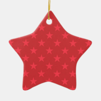 Rote Weihnachtssternchen-Vereinbarung Keramik Ornament