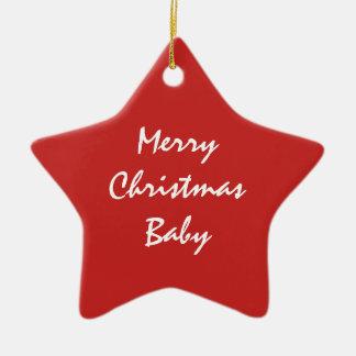 Rote Weihnachtsverzierung Keramik Stern-Ornament