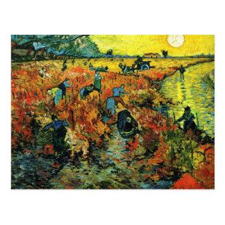 Rote Weinberge Van Gogh an Arles Postkarte