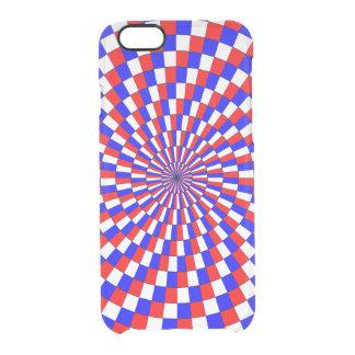Rote weiße Blau-Spirale Durchsichtige iPhone 6/6S Hülle