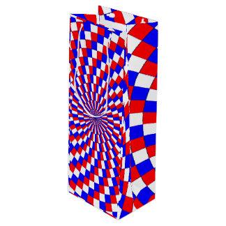 Rote weiße Blau-Spirale [Wein] Geschenktüte Für Weinflaschen