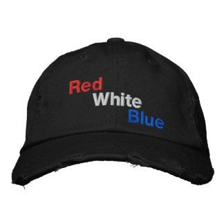 Rote weiße blaue amerikanische Flagge färbt Baseba Baseballkappe