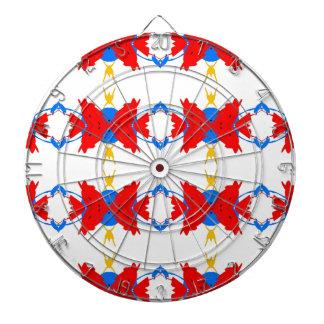 Rote weiße blaue gelbe Jungen-Stammes- Muster Dartscheibe