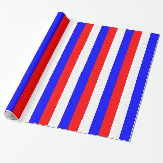 Rote, weiße, blaue Streifen Einpackpapier