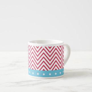 Rote weiße blaue Streifen-Sterne Espresso-Tassen