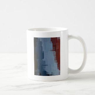 rote weiße blaue Würfel Kaffeetasse