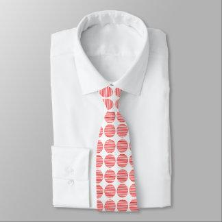 Rote weiße gestreifte Kreis-Muster-Krawatten Bedruckte Krawatten