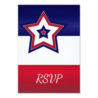 Rote weiße u. blaue Sterne UAWG Karte Einladungskarte