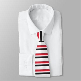 Rote weiße u. schwarze Horizontal-Gestreifte Krawatte
