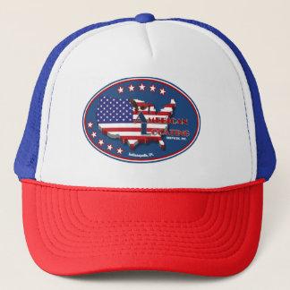 Rote weiße und blaue amerikanische truckerkappe