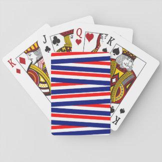 Rote, weiße und blaue Bänder Spielkarten