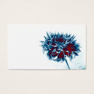 rote weiße und blaue Chrysantheme Visitenkarte