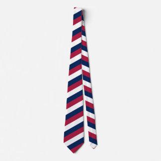 Rote weiße und blaue diagonale Streifen Krawatte