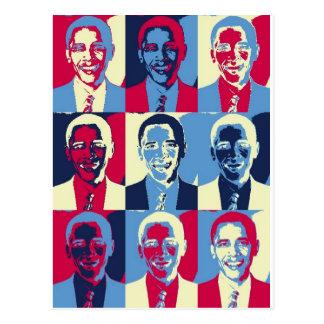 Rote, weiße und blaue Obama-Pop-Kunst Postkarten
