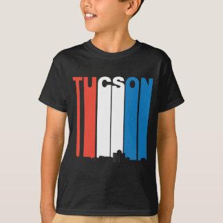 Rote weiße und blaue Skyline Tucsons Arizona T-Shirt