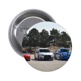 Rote weiße und blaue Sportwagen Anstecknadelbuttons