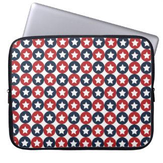 Rote weiße und blaue Sterne Laptopschutzhülle
