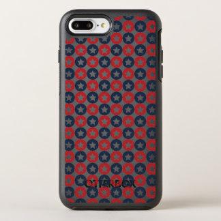 Rote weiße und blaue Sterne OtterBox Symmetry iPhone 8 Plus/7 Plus Hülle