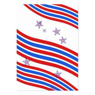 Rote weiße und blaue Streifen und Stern Jumbo-Visitenkarten