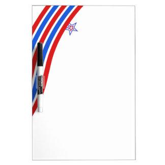 Rote weiße und blaue Streifen und Stern Memo Boards