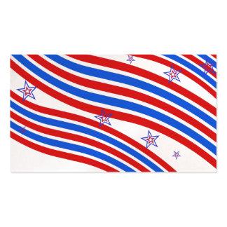 Rote weiße und blaue Streifen und Stern Visitenkarten
