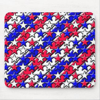 Rote, weiße und blaue Streifen und Sterne Mauspads